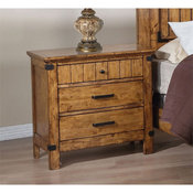 Coaster Brenner 3 Drawer Nightstand in Natural and Honey