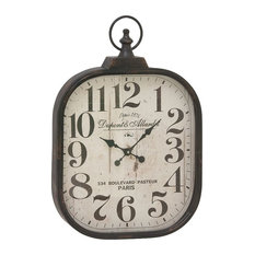 Shop industrial clocks best deals free shipping on select brimfield may disick metal and glass wall clock wall clocks gumiabroncs Choice Image