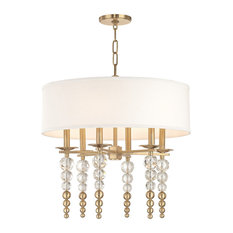 "Hudson Valley Lighting 2324 Persis 6 Light 24"" Wide Beaded Chandelier"