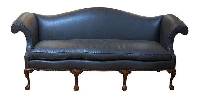 Elegant Vintage Chippendale Sofa  Exceptional Restoration