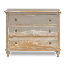 47-inch Baldassarre Cabinet Reclaimed Solid Pine Wood French Grey White Chest