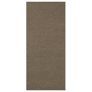 Plain Jacquard Woven Vinyl Floor Cloth, Brown, 70x250 cm