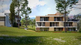 Barrierefreies Wohnen am Kurpark - MFH Architekturvisualisierung