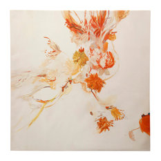 Apricot Floral, Stretched Canvas Wall Art
