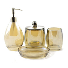 Angus Glass Bathroom Set of Champagne Collection