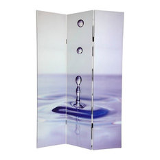 6' Tall Double Sided Water Zen Canvas Room Divider