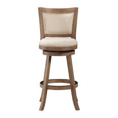 boraam industries melrose swivel stool driftwood gray bar height bar stools and