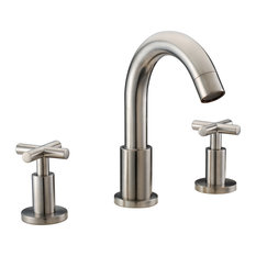 """Dawn 3-Hole Widespread Lavatory Faucet With Cross Handles For 8"""" Centers"""