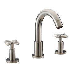 Three Hole Bathroom Sink Faucets » Cozy Twist Design Widespread Lead Free 3  Hole Bathroom Faucet