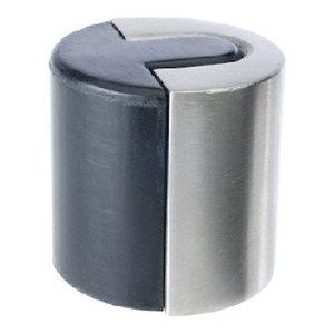 "BOX OF 5 HAMPTON WALL MOUNT DOOR STOP BRIGHT BRASS GRAY 2 5//16/"" RUBBER STOPPER"