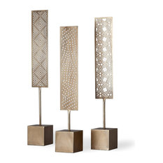Arondale Decorative Object, Set of 3, Champagne