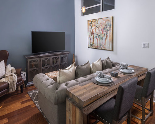 rustic blue living room color ideas   Rustic Living Room Design Ideas, Remodels & Photos with ...