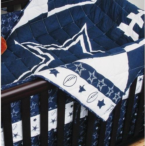 Sports Coverage Nfl Dallas Cowboys 4 Piece Football Crib Bedding Set Baby