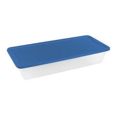 Homz Products/Storage 28 qt. Underbed Tote, 3228CLBL.08, 41 Quart