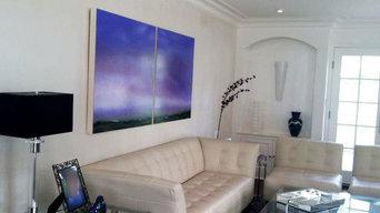 """©Patrice Erickson, Marsh Expanse, oil on wood, 36""""x72"""""""