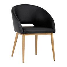Thatcher Antique Brass Dining Chair Onyx