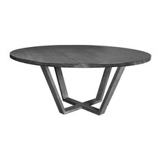 "Allen Round Dining Table, 60"" Top, Cement"