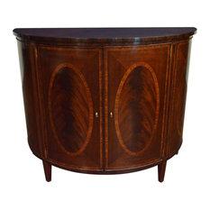 Hepplewhite Mahogany Demilune Cabinet By Leighton Hall