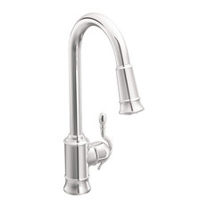 Moen Woodmere Chrome One-Handle Pulldown Kitchen Faucet 7615C