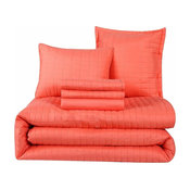 Honeymoon Queen Comforter Set 6-Piece, Coral
