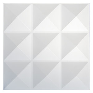Easy Peel & Stick 3D Wall Panel, Diamond Design, 12 Panels, 32 Sq.Ft.