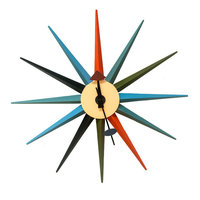Mod Made Mid Century Modern Multi Color Star Clock
