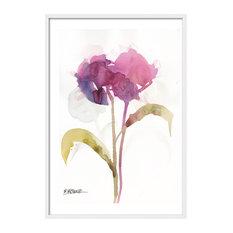 """""""Mauve Flower"""" Framed Print, 43.5x63.5 Cm"""