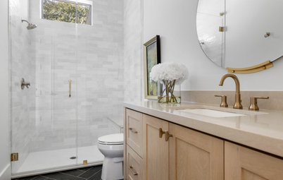 New This Week: 6 Midsize Bathrooms With a Low-Curb Shower