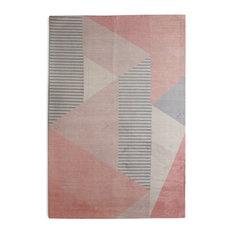 Blush Memphis Mid-Century Modern Geometric Area Rug, 5'x7'