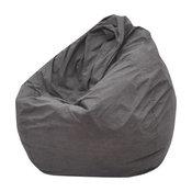 Modern Bean Bag Inc. The Big Pear Bean Bag, Grey, Suede
