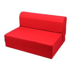 shop iso swivel sleeper chair bed - red products on houzz