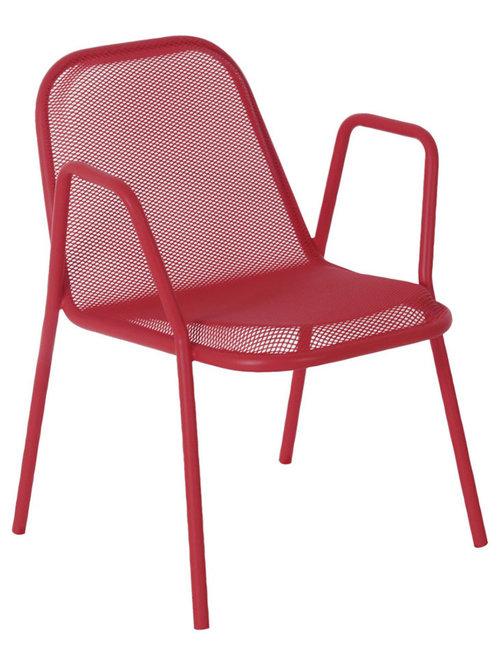 Golf Stol Med Armstöd, Röd - Udendørs spisebordsstole