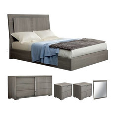 ALF   ALF Tivoli 5 Piece Bedroom Set, King   Bedroom Furniture Sets