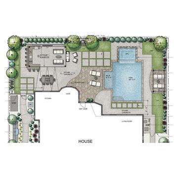 Dream Home Backyard Design Concept