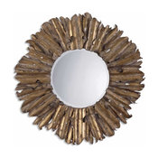 Emani Hand Forged Antique-Style Gold Mirror