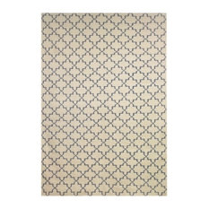 - New geometric matta Beige/Black 180x272 cm - Avpassade mattor
