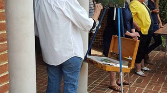 Artists create at Pennsylvania's Governor's Residence during Gallery Walk