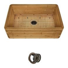 Bamboo Apron Kitchen Sink, 894, Mocha Flange