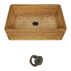 MR Direct Sinks and Faucets - Bamboo Apron Kitchen Sink, 894, Mocha Flange - Kitchen Sinks
