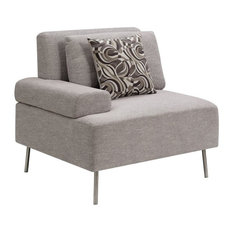 Furniture of America Sabi Contemporary Modular Right Arm Chair in Gray