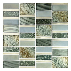 "Silver Sea 12""x12"" Aluminum Glass Blend Imperial Mosaic"