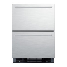 """Summit 24"""" Drawer Refrigerator with 4.9 cu. ft. Capacity in Stainless Steel"""