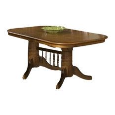 Intercon Furniture Classic Oak Trestle Dining Table, Burnished Rustic