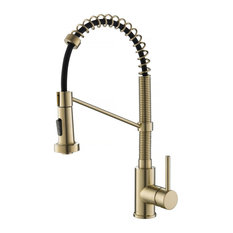 KRAUS Bolden Single Handle 18-Inch Commercial Kitchen Faucet, Brushed Gold