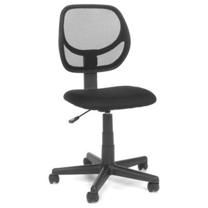 Essentials Armless Task Chair, Mesh/Fabric