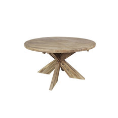 Cross Round Dining Table, Large