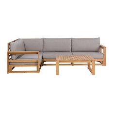 Timor Brown 5-Piece Outdoor Modular Sofa