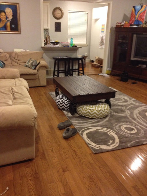 Coffee Table Vs Rug Placement