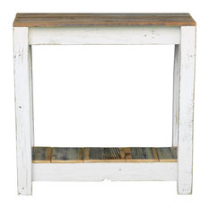Combo Console Table White 30-inch