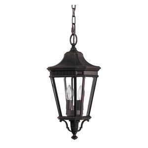 Cotswold Lane Chain Lantern, Grecian Bronze, Medium